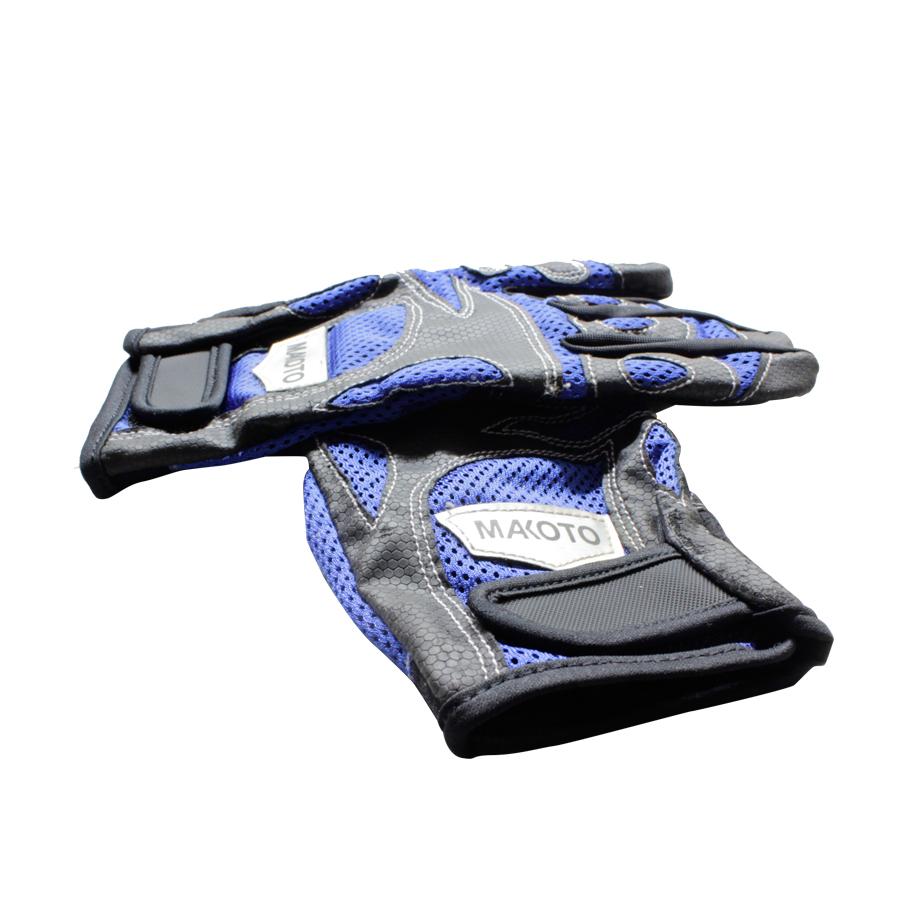 Makoto, Racing Gloves (BLACK-BLUE)