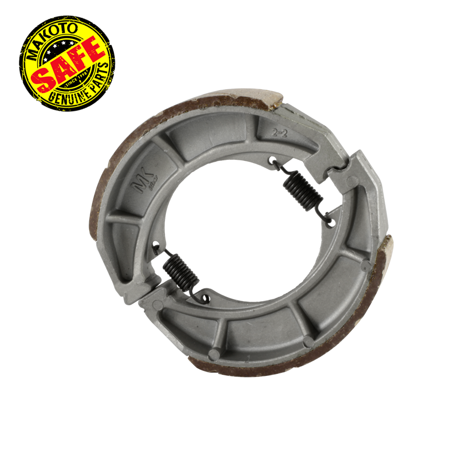MK-Silver Brake Shoe, RR (w/GROOVED) (HD3, HDX, WIND125)
