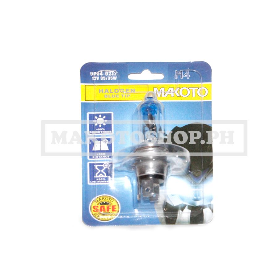 BULB, H/LIGHT 12V 35/35w (BLUE TIP) (H4) (MAKOTO)