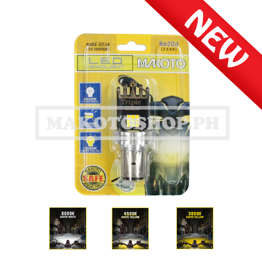 BULB, LED HEADLIGHT (2EAR) 3-COLORS